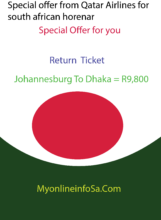 Special offer from Qatar Airlines for south african horenar